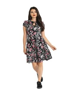 Hell Bunny Mushu Dragon Floral Mid Dress