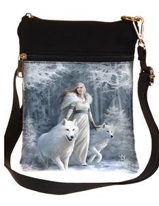 Nemesis Winter Guardians Wolf Bag By Anne Stokes