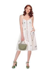 Collectif 50s Style Molly Soft Green Satchel Saddle Bag