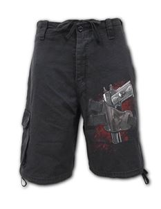Spiral Direct Mens Holster Stone Washed Cargo Shorts