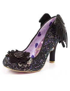 Irregular Choice Icarus Winged High Heels Shoe Black