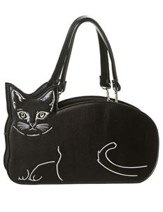 Banned Black Kitty Kat Bag