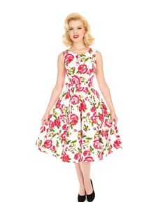 Hearts & Roses 50s Retro Style Sweet Rose Swing Dress