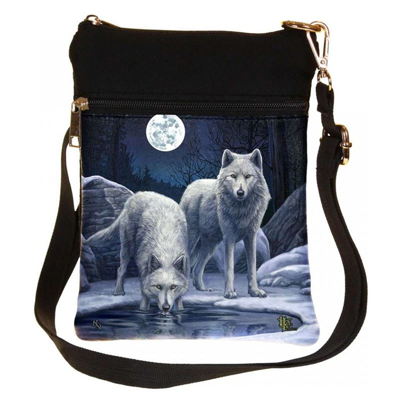 Nemesis Now Warriors of Winter Wolf Bag Lisa Parker