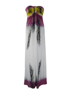 Strapless Feather Maxi Beach Long Summer Dress