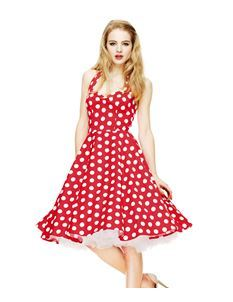 Hell Bunny 50's Mariam Polka Dot Dress Red