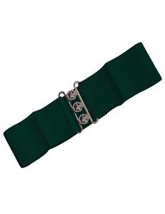 Dancing Days 50s Elasticated Stretch Forest Green Belt