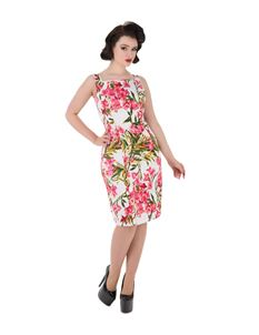 H&R London Pink Maureen Floral Wiggle Dress