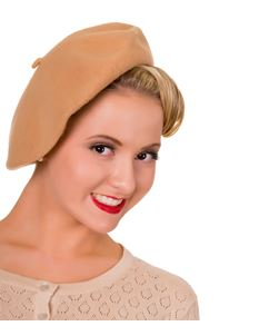 Banned Camel Wool Mix Beret Hat