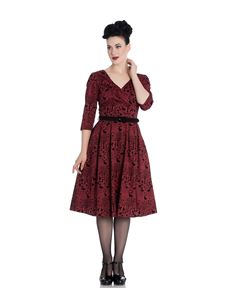 Hell Bunny Sherwood 50s Velvet Flock Animal Dress