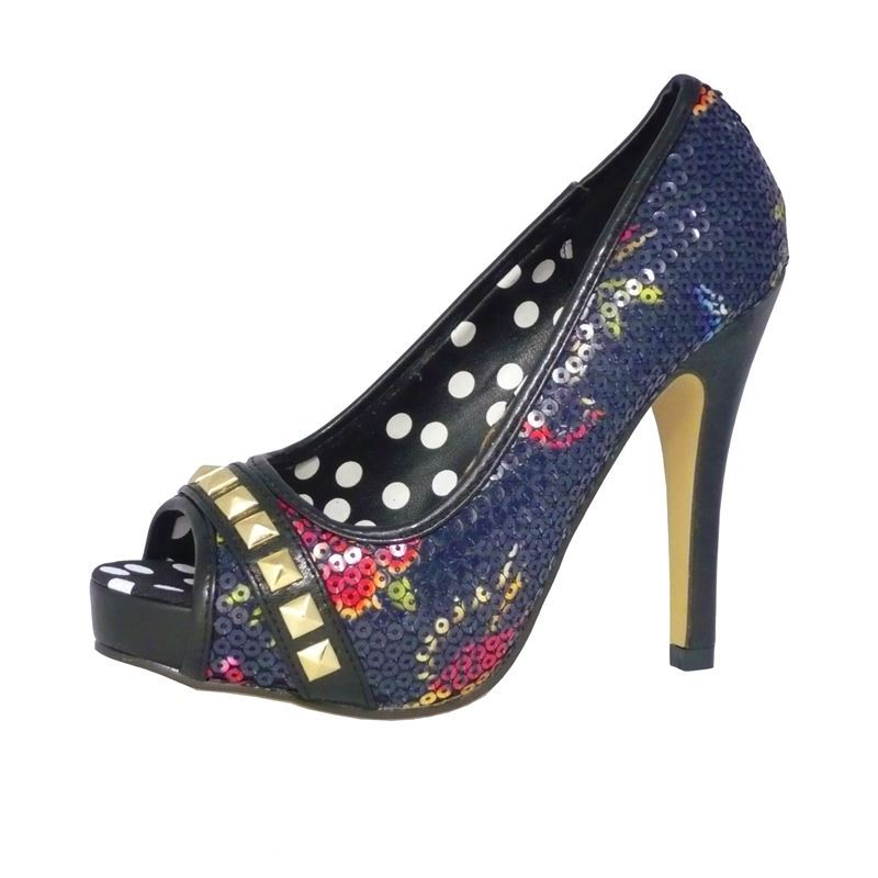 Iron Fist Society Sequin Platform Peep Toe Shoes