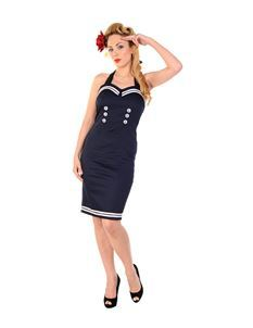 Banned 50s Style Sailor Nautical Wiggle Dress