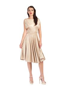 Zoe Vine Gold Fit & Flare Dress