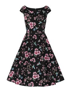 Hell Bunny Madison Hummingbird Floral 50s Dress