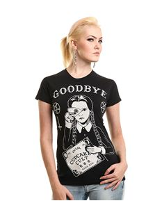 Cupcake Cult Wednesday Addams Ouija Black Tee T-Shirt