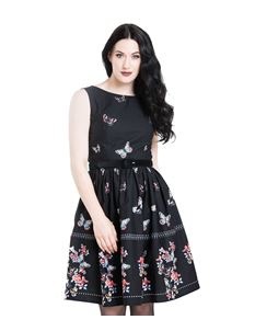 Hell Bunny Laeticia Butterfly 50s Mid Floral Dress