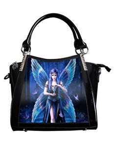 Anne Stokes 3D Enchantment Fairy PVC Black Handbag