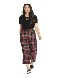 Hell Bunny Riot Tartan Culottes Cropped Trousers