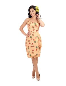 Collectif Pineapple & Palm Rockabilly 50's Dress