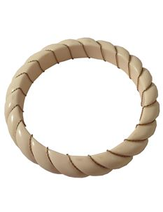 1950s Vintage Cream And Gold Bangle