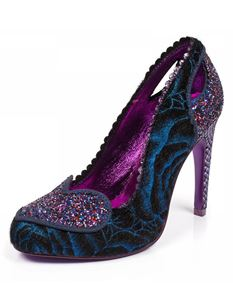 Poetic Licence Loren Love High Heel Glitter Heart Blue