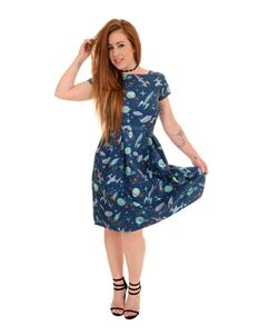Run & Fly Space Retro Dress