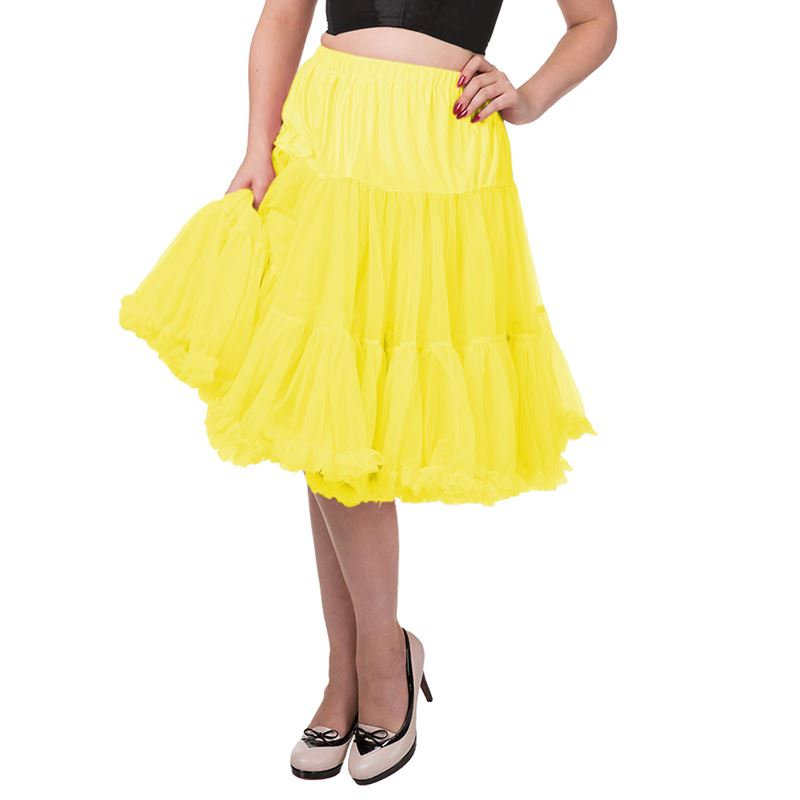 "Dancing Days Lifeforms 25""-27"" Canary Yellow Petticoat"
