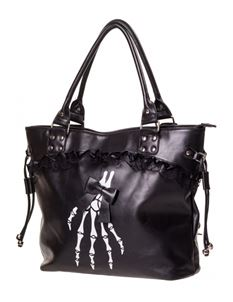 Dancing Days By Banned 50s Black Renegades Goth Handbag