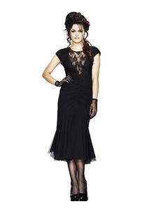 Spin Doctor Ariana Fishtail Dress Black