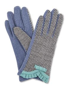 Powder French Navy Vintage Style Gloves