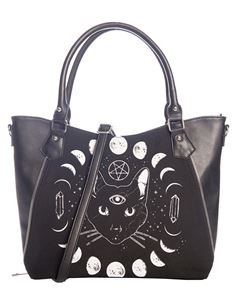 Banned Pentacle Coven Witch Moon Alternative Tote Bag
