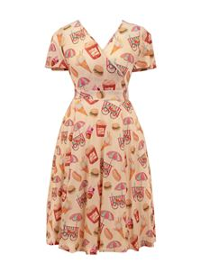 Lady V Lyra Cream Sweet Shop Vintage Style Dress