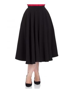 Voodoo Vixen Sandy 50s Style Full Circle Black Skirt