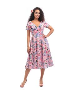 Collectif Maria Country Garden Swing Dress