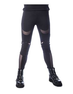 Heartless Harlyn Alternative Black Mesh Leggings