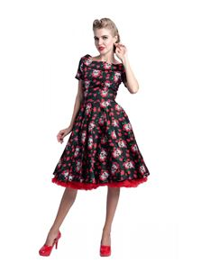 Dolly & Dotty Skull & Roses Darlene Dress