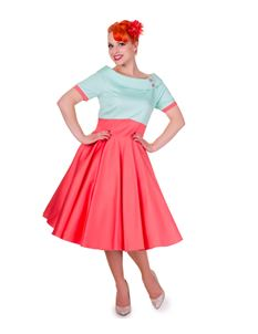 Dolly And Dotty Darlene Retro Full Circle Dress UK 12