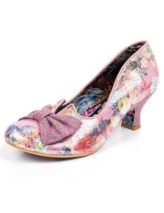 Irregular Choice Dazzle Razzle Pink Metallic Low Heels