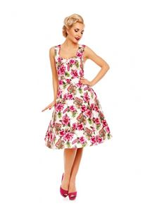 Dolly And Dotty Claudia Orchid Print Dress