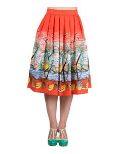 Banned Palm Springs 50s Retro Style Tropical Skirt
