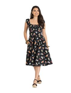 Hell Bunny Pina Colada 50s Style Rockabilly Gypsy Dress