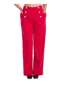 Banned Retro Adventures Ahead Swing 40s Trousers