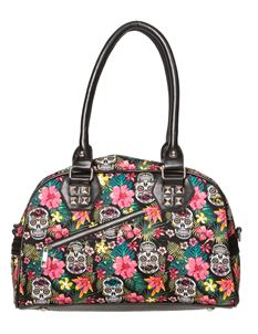Banned Hibiscus Sugar Skull Bag