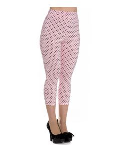Hell Bunny 50s Kay Polka Dot Capris Cropped Trousers