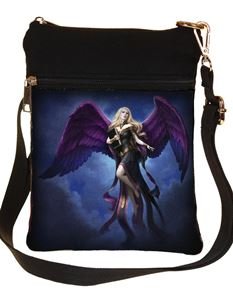 Nemesis Now Dark Messenger Shoulder Bag By James Ryman