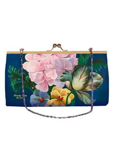 Woody Ellen 50's Style Eden Floral Retro Clutch Shoulder Bag