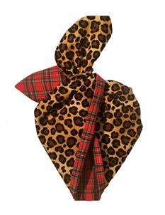 Be Bop a Hairbands Leopard And Tartan Wired Hairband