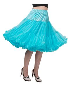 "Dancing Days Lifeforms 25""-27"" Turquoise Blue Petticoat"
