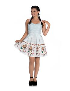 Hell Bunny Candy Gingerbread Festive Xmas Mini Dress