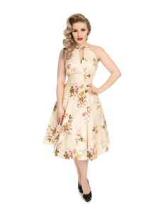 H&R London 50s Lucinda Crossover Halterneck Dress